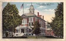 Rockland Maine Knox Court House Street View Antique Postcard K71549