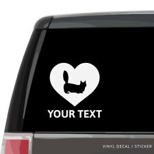 Munchkin Cat Silhouette Heart Vinyl Sticker / Car Window Decal, laptop wall