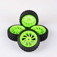 4Pcs 1:10 Dia 68mm Rally Rubber Tires Wheel Rim 11204 For HSP HPI RC Model Car