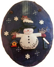"Snowman Heartstring Holiday ""Everybirdie Welcome"" Decoration"