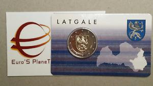 coin card 2 euro 2017 LETTONIA Letgallia LATGALE Lettonie Lettland Latvia Латвия