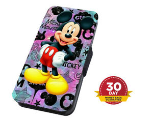 Mickey Mouse Disney Stars Flip Phone Case Cover for iPhone Samsung And Huawei