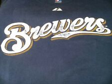 MLB Majestic Official Name Number T-Shirt Milwaukee Brewers Rickie Week Adult S