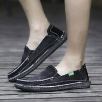 Men's Casual Cloth Shoes Canvas Slip-On Loafers Outdoor Leisure Walking Sneakers