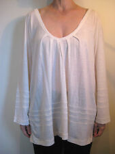 Ana Nonza Size L or 14 Cream Wool Blend Long Sleeved T-Shirt Top