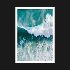 Ocean Waves Poster / Print - Nature Water Sea Wall Art Decor - A5 A4 A3