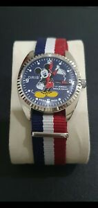 Mickey Mouse Hand Winding 17 Jewels Mens Watch