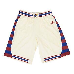 Kansas Jayhawks NCAA Adidas Men's Cream Hardwood Classics Basketball Shorts
