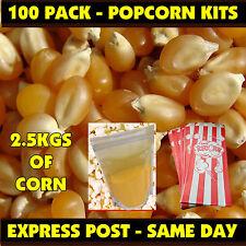 Cinema Popcorn Bulk Pack! Makes Approx 100 bags of Popcorn! Corn & Salt & Bags