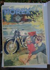 altes Plakat Horex Motorrad