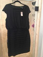 NEW Nwt Bandage Sexy BLACK IN CLASSIC DRESS SIZE 16 1X LANE BRYANT