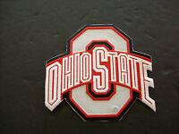 NCAA  OHIO STATE UNIVERSITY 'O' PRIMARY LOGO PATCH EMBROIDERED IRON-ON EMBLEM