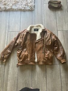 Vintage Leather Jacket Made In England Size L