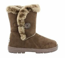 Women's Ella Nina Faux Sheepskin LOOK Fur Lined Low Warm BOOTS Brown UK 5
