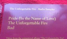 U2 THE UNFORGETTABLE FIRE Promo Radio Sampler UK U2UF1 Mint