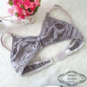Womens Soft Comfort Full Cup Unpadded Silk Bra 34A 36A 38A 40A 42A Underwear