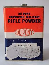 Empty Vtg 1960s Du Pont De Nemours Improved Military Rifle Gun Powder Tin 3031
