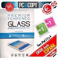 Protector cristal templado para iPad 3 A1430 calidad PREMIUM blister +toallitas