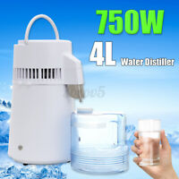 4L Medical Pure Water Distiller Purifier Filter Temperature Controlled Stainless