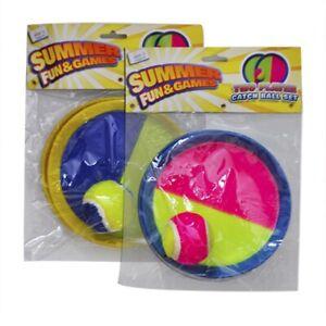 """CHILDREN KIDS OUTDOOR Catch Ball Vinyl Set """"Summer Fun & Games"""" SelfStick 2 Play"""