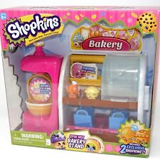 Shopkins Spin mix Bakery Stand Playset With 2 Exclusive Super RARE! New