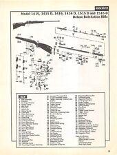 Anschutz Deluxe Bolt Action Rifle Isometric View Diagram Gun Print Vintage