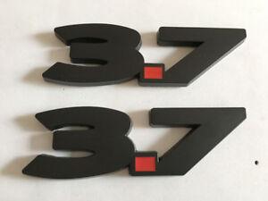 Pair Metal Black 3.7 Emblem Badge For 2011-2014 3.7L
