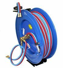 Automatic Retractable Reel w/ 100Ft Twin Welding Hose Oxy Acetylene Welding Hose