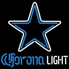"Dallas cowboys Corona Light Neon Lamp Sign 20""x16"" Bar Light Beer Glass Decor"