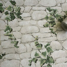 Erismann - Ivy Stone Slate Realistic Textured Wallpaper - White / Green 7519-2