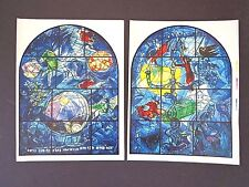 Chagall Jerusalem Stained Glass printer's proofs color photo-lithographs INV2666