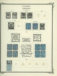 COLOMBIA STATES - CUNDINAMARCA Scott Specialty Album Page Lot #10 - SEE SCAN $$$