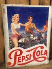Pepsi Motorbike Retro Sign