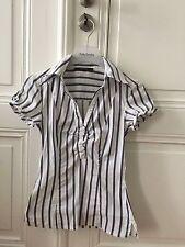 schöne Bluse Vintage Boho Vero Moda Sailor maritim gesteift Größe S