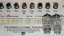 2 TUBES ECC83 Amperex Holland (1) Bugle Boy 12AX7A + (1) Eico 12AX7 WE Hickok tt