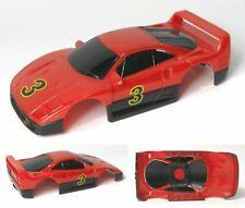 1991 TYCO Ferrari F-40 #3 Slot Car BODY 6320 Variation