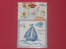 sticker voilier résiste à la chaleur et l'eau pour faïence,bois,plastique verre