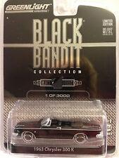 Greenlight BLACK BANDIT  1963 Chrysler 300K Convertible