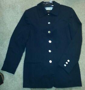 Long sleeve fully lined jacket AMANDA SMITH size 10 navy blue