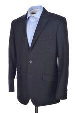 DOLCE & GABBANA Solid Gray Flannel Wool Blazer Sport Coat Jacket EU 50 / US 40 R