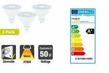 LED MR16 GU5.3 8.3W (50W) 2700K 680lm Dimmable Light Bulbs 3 PACK