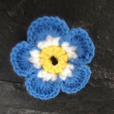 Handmade Crochet Forget me Not Brooch,  Donation to Alzheimer's Society