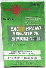 1 X EAGLE BRAND MEDICATED OIL 24ML PAIN RELIEF SINGAPORE