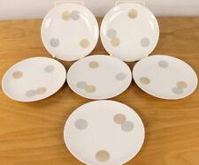 6 Frühstücks Teller Raymond Lowy Rosenthal Porzellan Service Coins Continental