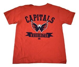 Majestic Youth Boys NHL Washington Capitals Hockey Shirt NWT S