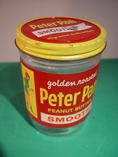 Peter Pan P-Nuttiest! Peanut Butter vintage glass Jar