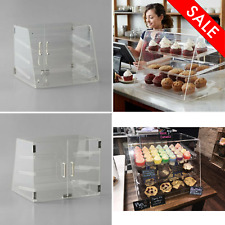 Bakery Pastry Deli Case Countertop Cabinet Display Magnetic Rear Door 3 Tray