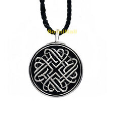 Celtic Infinite Heart Knot with Rope Necklace