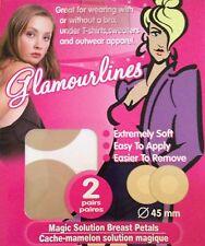Breast Petals Nipple Cover Pasties Concealer Adhesives Lingerie Bra Pad Nude 2pr