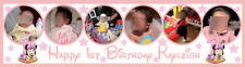 Minnie Mouse Themed Personalized Large Birthday Banner Poster Bespoke with Photo